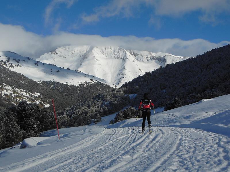 Vacaciones del blog esquiando