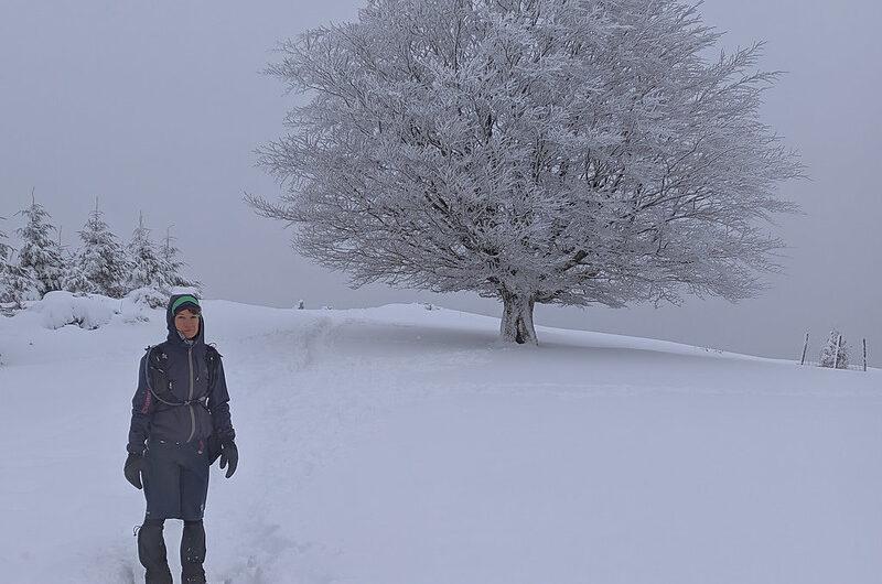 Aprovechando la nieve en Elgoibar. Enero 2021